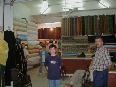 Cloth shop in suq